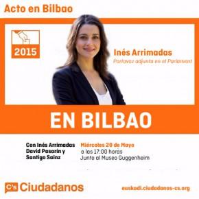 20 de Mayo mesa informativa de Ciudadanos en Bilbao con Inés Arrimadas