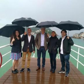 Matías Alonso, secretario general de Ciudadanos, visita Donostia-San Sebastián
