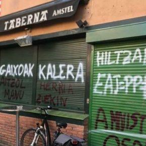 Ciudadanos Euskadi condena las pintadas amenazantes aparecidas en diversas sedes del PNV, PSE-EE y PP.