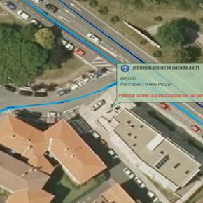 """El Grupo Municipal Ciudadanos Getxo registra un escrito solicitando que el ayuntamiento inste a los responsables de Bizkaibus a eliminar el nombre """"Txikia Plaza"""" y actualizarlo al actual """"Plaza María de Ibarra"""""""