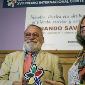Fernando Savater galardonado en la XVII entrega del Premio Internacional COVITE
