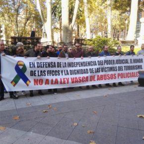 Ciudadanos Euskadi se manifiesta en rechazo de la ley vasca de abusos policiales