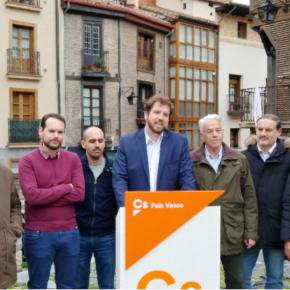 """Fin de campaña Cs Euskadi. El portavoz de Ciudadanos Euskadi afirma que """"PP y PSOE son una convención de perdedores"""