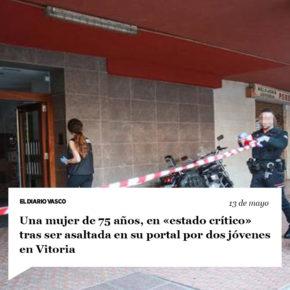 Declaraciones de Iñaki Sánchez, tras conocer la noticia del ataque recibido por una mujer de 75 años en el portal de su domicilio de la capital alavesa.