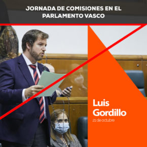 """Luis Gordillo: """"Se debe desarrollar la coordinación entre Ertzaintza, Policía Nacional y Guardia Civil, está en juego la integridad física de las personas"""""""